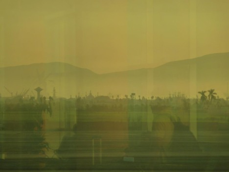 Utsikt mot Lima fra flyplassen