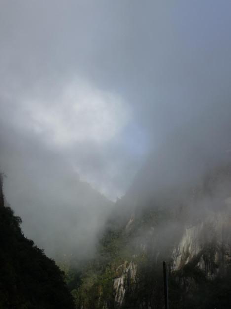 Regnskyene fant det heldigvis for godt å lette når vi kom opp til Machu Picchu.